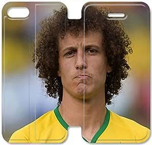 Premium Flip Ultra Slim David Luiz-6 iPhone 6/6S Plus 5.5 Inch Leather Flip Case
