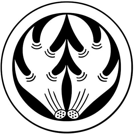 家紋シール 「丸に抱角」6枚入 男性紋・女性紋・子供サイズ・黒地用・白地用 貼付け家紋 着物用 KOM180