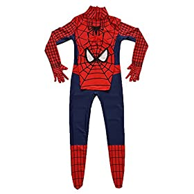 - 51 2BDn13QG2L - Kids Spiderman Costume Child Superhero Cosplay Elastic Jumpsuit Amazing Spandex Zentai Suit Halloween Boys Costumes