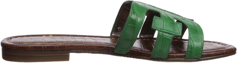 Sam Edelman Bay Sandales pour Femme Noir Spring Green Leather