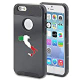Apple iPhone 5 5s Shockproof Impact Hard Case Cover Italy Italian Flag (Black )