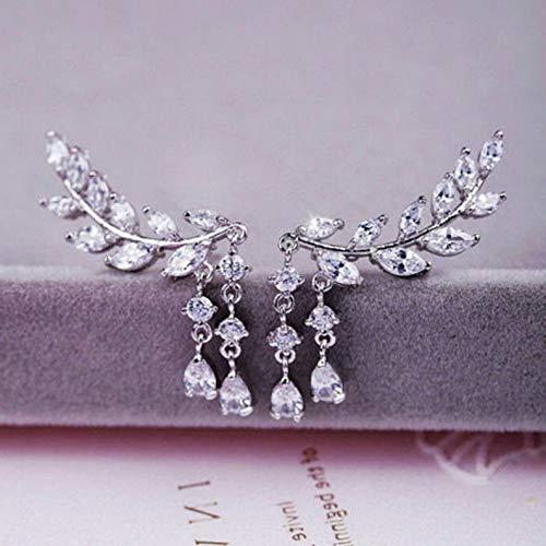 Tomikko Fashion Women Ear Hook Plated Crystal Rhinestone Stud Ear Clip/Tassel Earrings | Model ERRNGS - 8275 |