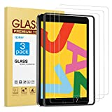 apiker [3 Pack] Screen Protector for iPad 7th Generation 10.2 Inch (iPad 7) 2019 Release - Tempered Glass Screen Protector Compatible with Apple Pencil