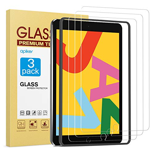 apiker [3 Pack] Screen Protector for iPad 7th Generation 10.2 Inch (iPad 7) 2019 Release