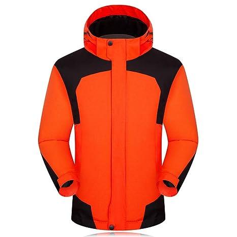 Chaqueta de montaña Impermeable para Hombre Mountain Waterproof Ski Jacket Windproof, Color Naranja, tamaño