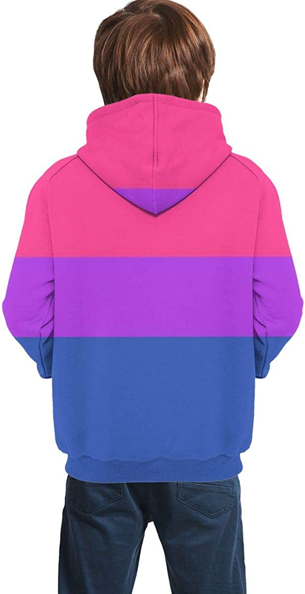 Teen Hooded Sweate,Bisexual Pride Flag Unisex Pullover Hoodie Hoodie for Teen Boys//Girls Kids