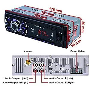 51%2BDnguz4fL. SS300  - Hoidokly-Car-Radio-with-Bluetooth-Hands-Free-Kit-4-x-60W-Digital-Media-Receivers-FM-USB-MP3-Media-Player-Wireless-Remote-Control-Included