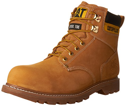 Caterpillar Men's Second Shift Steel Toe Work Boot,Honey,8.5 M US (Best Construction Boots For Men)