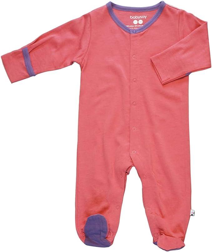 Newborn Sleeper Pajamas Babysoy Infant Baby Zipper Footie Coveralls
