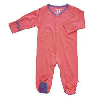 6bc1fef2a86e Amazon.com  Babysoy Long Sleeve Baby Footed Pajamas - Organic One ...