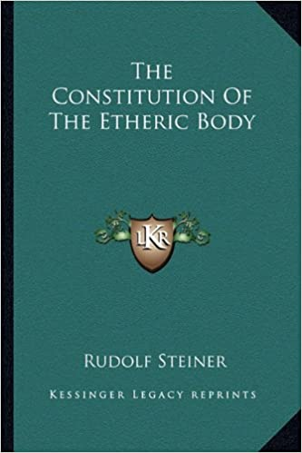 Book The Constitution Of The Etheric Body