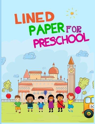 Papel rayado para preescolar: cuaderno cuaderno páginas alineadas