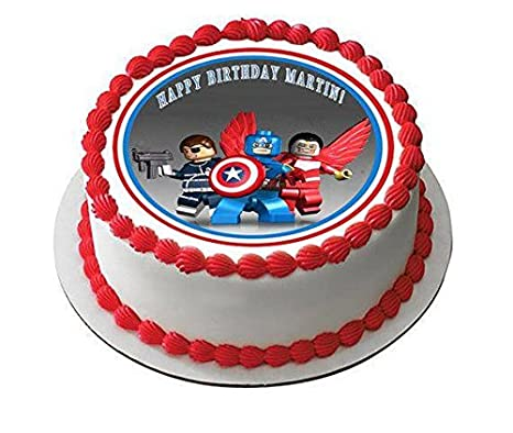 A Birthday Place Hockey Puck Personalizable Edible Frosting Image 1 4 Sheet Cake Topper