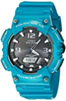 Casio Men's AQ-S810WC-3AVCF Tough Solar Analog-Digital Watch With Blue-Green Resin Band