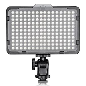 "Neewer on Camera Video Light Photo Dimmable 176 LED Panel with 1/4"" Thread for Canon, Nikon, Sony and Other DSLR Cameras, 5600K (Battery Not Included)"