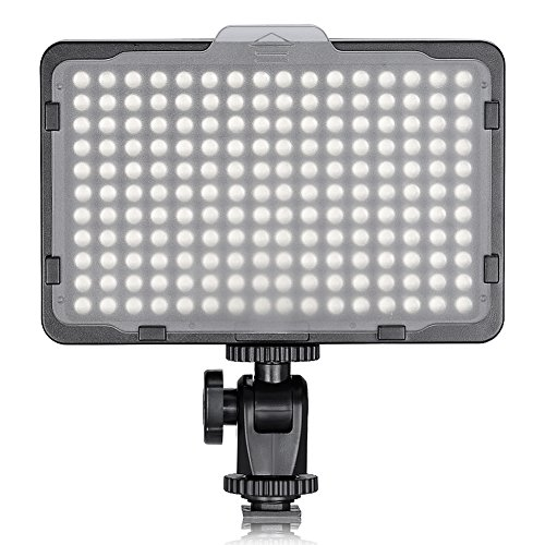 Neewer Photo Studio 176 LED Ultra Bright Dimmable on Camera Video Light with 1/4-inch Thread Mount for Canon, Nikon, Panasonic, Sony, Olympus and Other Digital SLR Cameras, 5600K(Battery Not Included) from Neewer
