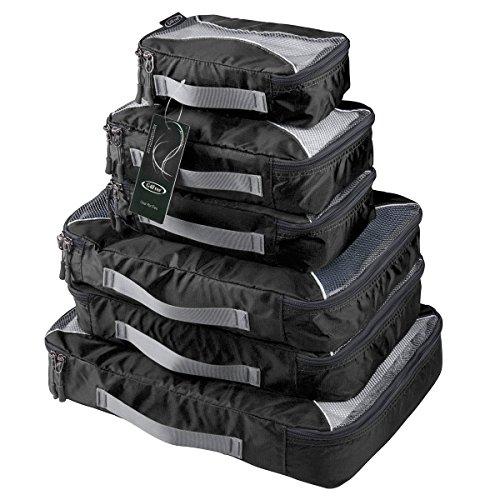 G4Free Packing Cubes 6pcs Set Travel Accessories Organizers Versatile Travel Packing Bags(Black) -