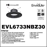 Designers Fountain EVL6733NBZ30 Bronze Trim Integrated LED Recessed Ceiling Light, 3000K, 90 Cri, 670 Lm, 5-6