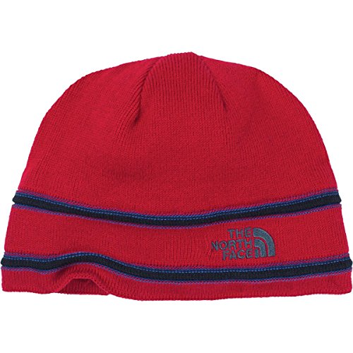 The North Face Youth TNF Logo Beanie TNF Red/Cosmic Blue M