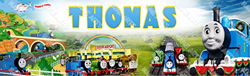 Personalized / Customized Thomas the Train Name Poster Wall Decor Door Birthday Art Banner -
