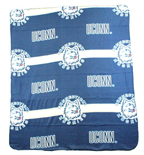 NCAA Connecticut Huskies 3-Bar Style Fleece Throw, 50-inch by - Throw Huskies Fleece Connecticut