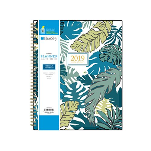 Block Easy Pattern (Blue Sky 2019 Weekly & Monthly Planner, Flexible Cover, Twin-Wire Binding, 8.5