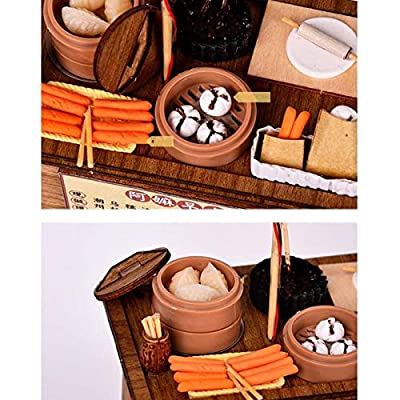 Wooden Adult Educational Toys BBQ Cart Barbecue Trolley Lighting House Wooden Model Kits DIY Model Christmas Gift kids toys Early Education Wood Toys (Color : B): Everything Else