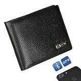 Anti Lost Wallet, Modoker Tracking Wallet Genuine Leather Tracker Wallet Smart Men Card Holder - Gift for Men Wallet Black