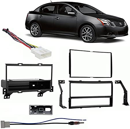 Double DIN Car Stereo Kit W Wiring Harness /& Antenna Adapter For 07-12 Altima