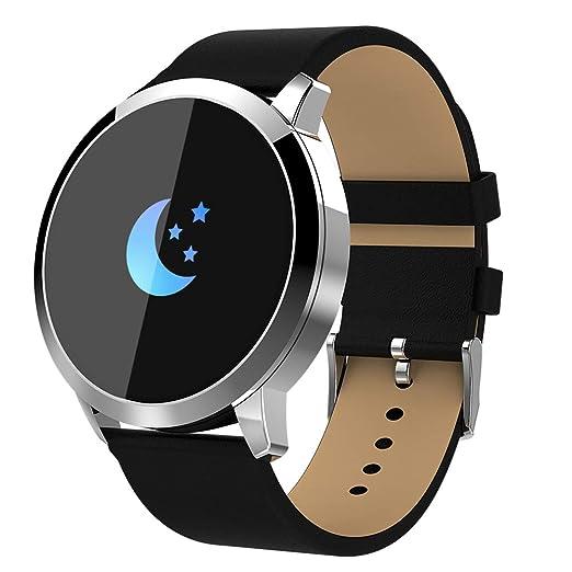 Reloj inteligente Q8 (completamente nuevo), para hombres y mujeres Reloj deportivo inteligente, pantalla táctil impermeable, monitor de oxígeno para ...