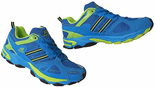 Herren Sportschuhe Sneaker Turnschuhe Schuhe Gr.41 - 46 Art.-Nr.1326 royal-grün