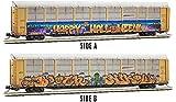 Micro-Trains MTL N-Scale 89ft Auto Rack Happy Halloween Graffiti BNSF #964859