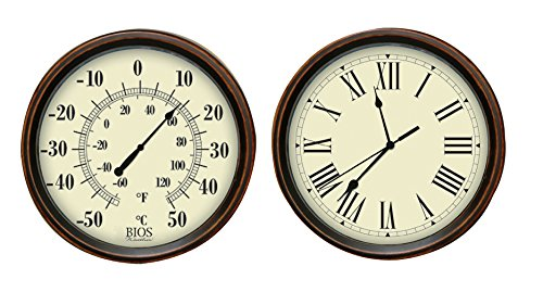 - BIOS Decorative Thermometer and Clock Set
