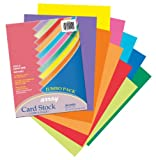 Pacon Card Stock, 8 1/2 inches by 11 inches, Colorful Assortment, 250 Sheets (101199)