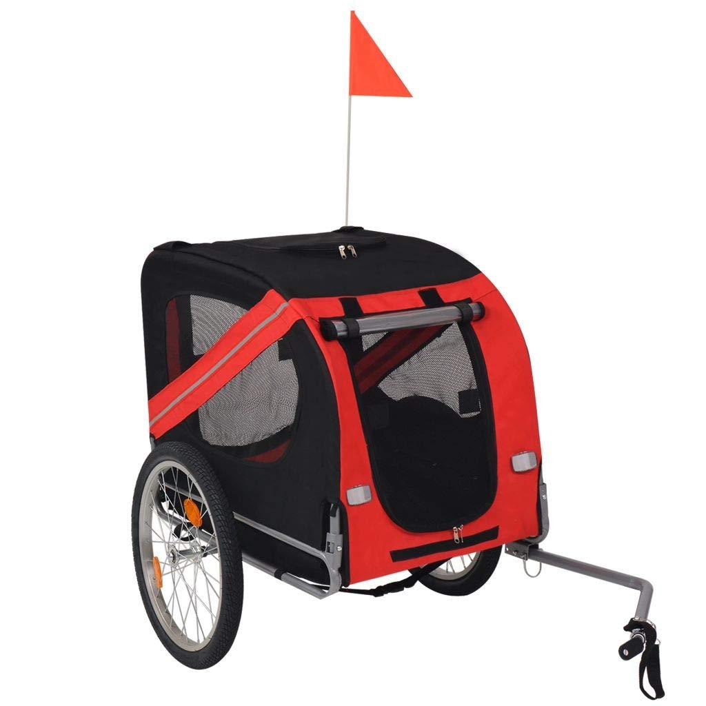 K&A company Dog Bike Trailer Red and Black