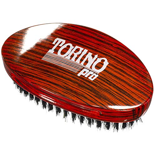 (Torino Pro Wave Brush #700 By Brush King - Medium Hard Curve 360 Waves Palm Brush - Made with Reinforced Boar & Nylon Bristles -True Texture Medium Hard 360 Waves Brushes)