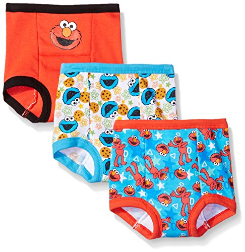 Sesame Street Toddler Boys' Elmo Boy 3 Pack Training Pant, Assorted Elmo, 2T