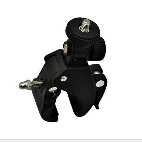 Clip de Montaje Manillar de Bicicleta con Abrazadera de tornillo 1//4 Soporte Trípode para Cámara DV