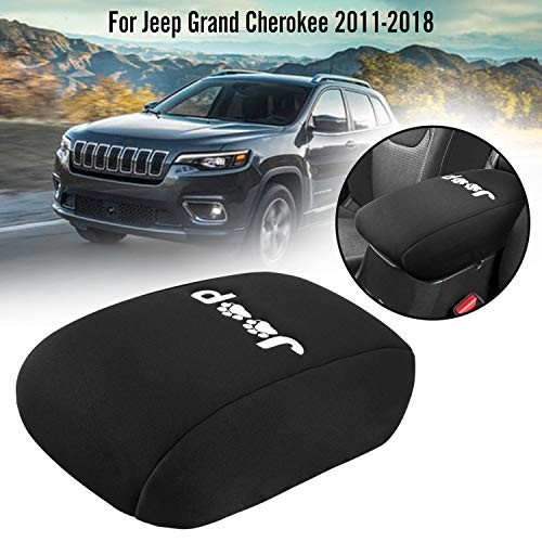 Seven Sparta Console Cover for Jeep Grand Cherokee 2011-2018, Neoprene Anti-Scratch Waterproof Center Console Armrest Cover (Dog Paws Print Logo)