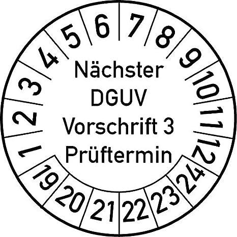 Prüfetikett Prüfsiegel Plakette DGUV V3 20 mm Ø, Blau in verschiedenen Farben und Größen 100 Stück Geprüft nach DGUV Vorschrift 3 Prüfplakette