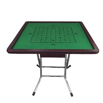 Allibuy Mesa Plegable portátil de Mahjong para el hogar Tarjeta ...