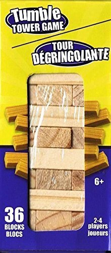 Tumble Tower (Tumble Tower Stacking Wood Block Game 4.5 Inches)