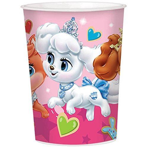 16oz Disney Princess Palace Pets Birthday Party Plastic Loot Treat Favor Keepsake cups (8) -