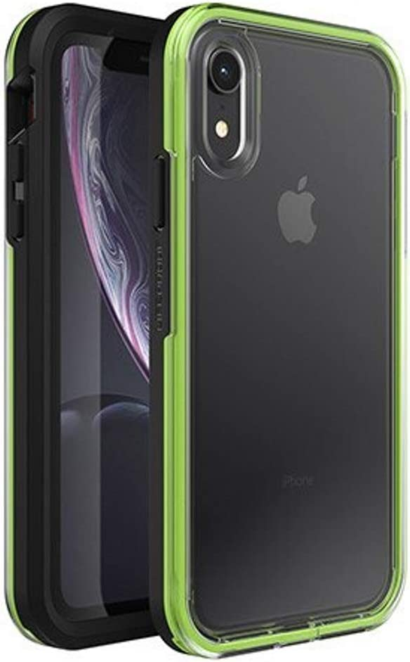 LifeProof SLAM Series Case for iPhone Xr (ONLY) - Retail Packaging - Night Flash (Clear/Lime/Black)
