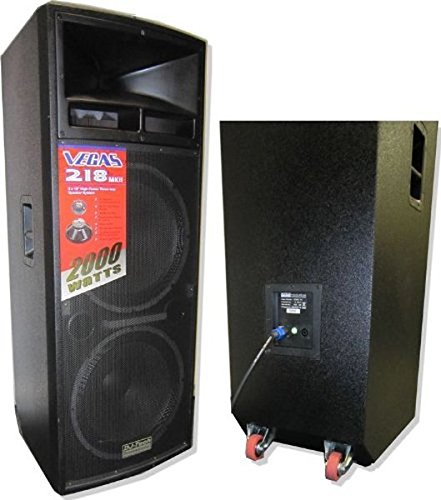 DJTECH VEGAS218MKII 3-Way PA Loudspeaker by DJ Tech