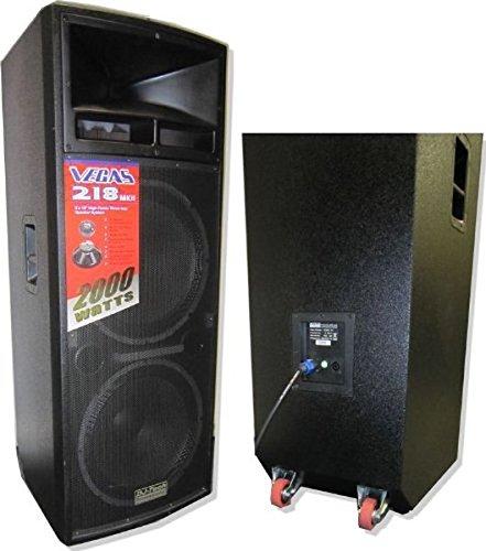 DJTECH VEGAS218MKII 3-Way PA Loudspeaker by DJ Tech