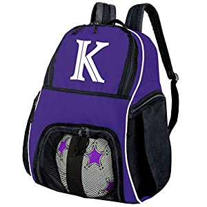 Personalized Soccer Backpack - Custom Volleyball Bag Purple BROAD BAY
