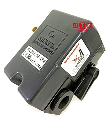 Replacement Air Compressor Pressure Switch, Sunny H4, 4 port, 140-175 PSI, 25 Amp