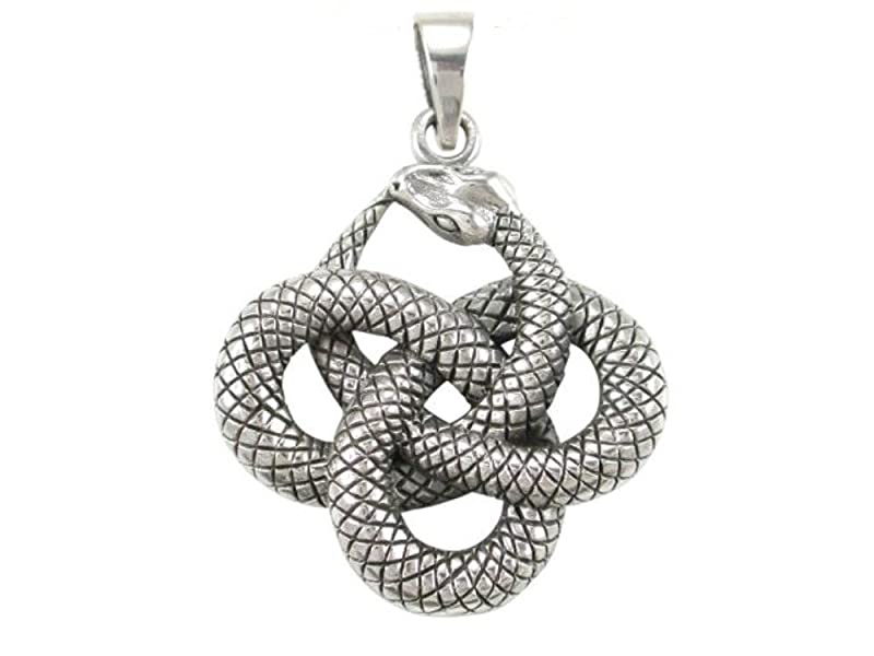 925 Sterling Silver Ouroboros Serpent Snake Infinity Eating Tail