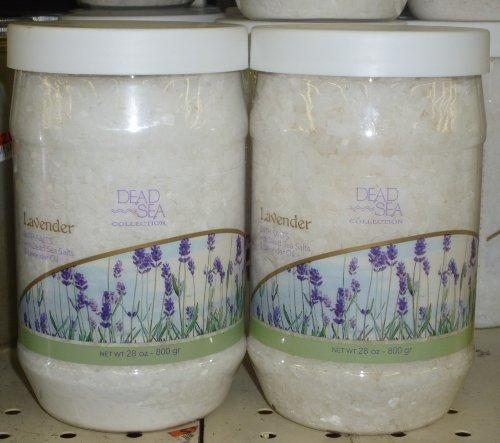 Dead Sea Collection Lavender Bath Salts with Dead Sea Salts (2 Pack) - Dead Sea Collection